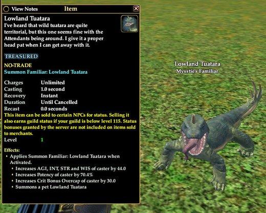 Lowland Tuatara | Familiars | EverQuest II | Mysstie's Gallery