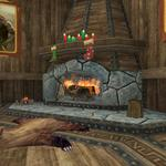 Frostfell House Decorations - Fireplace in Living Room