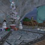 Frostfell House Decorations - Outside Deck at Night, closeup
