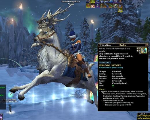 White Frosttail Reindeer (blue saddle) | Mounts | EverQuest