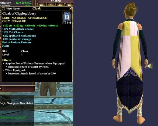 Cloak of Gigglegibbery | Cloaks | Outfits | EverQuest II