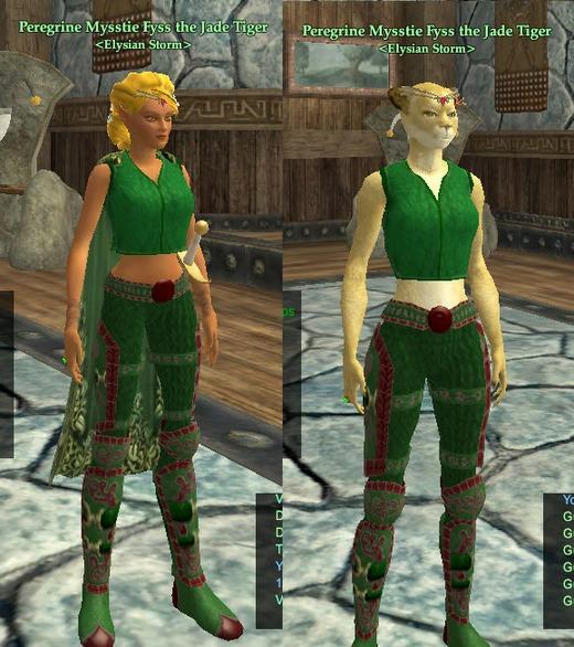 Mysstie WE Kerra-Green and Red 9-1-2010   Mysstie   Self
