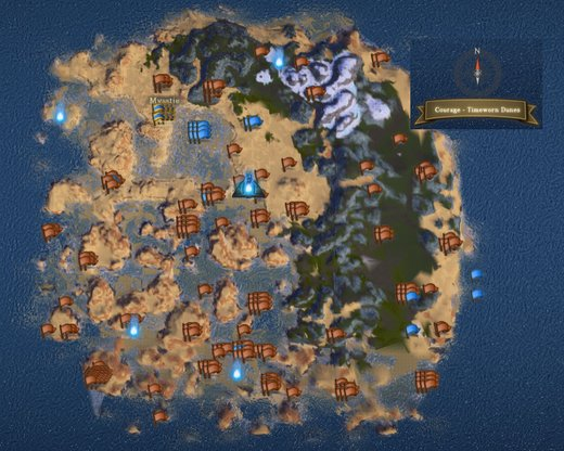 Timeworn Map Locations - 0425
