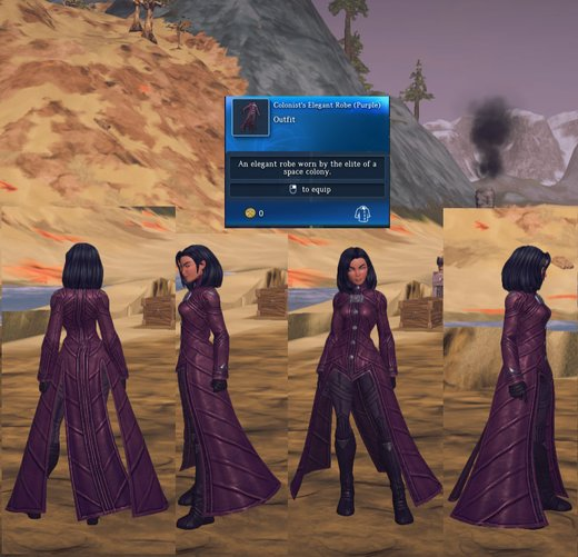 Colonist's Elegant Robe (Purple)
