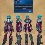 Colonist's Patrol Armor (Teal & Purple)