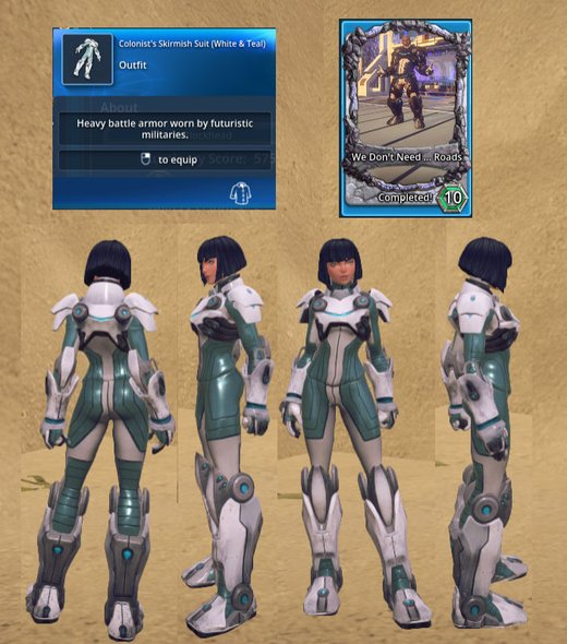 Colonist's Skirmish Suit (White & Teal)